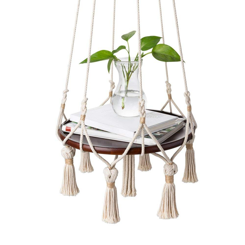 Power Source Efficient Hanging Shelf Macrame Plant Hanger Flower Pot Holder Boho Home Decor