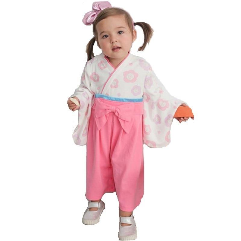 Kids Japanese Kimono Style   Romper   Baby Girls Boys 5 Types Toddler Infant Cotton Kimono Boys Jumpsuit Clothes Kawaii Costume
