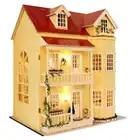 Bricolage artisanat Miniature projet Kit en bois poupées maison LED lumières musique Villa