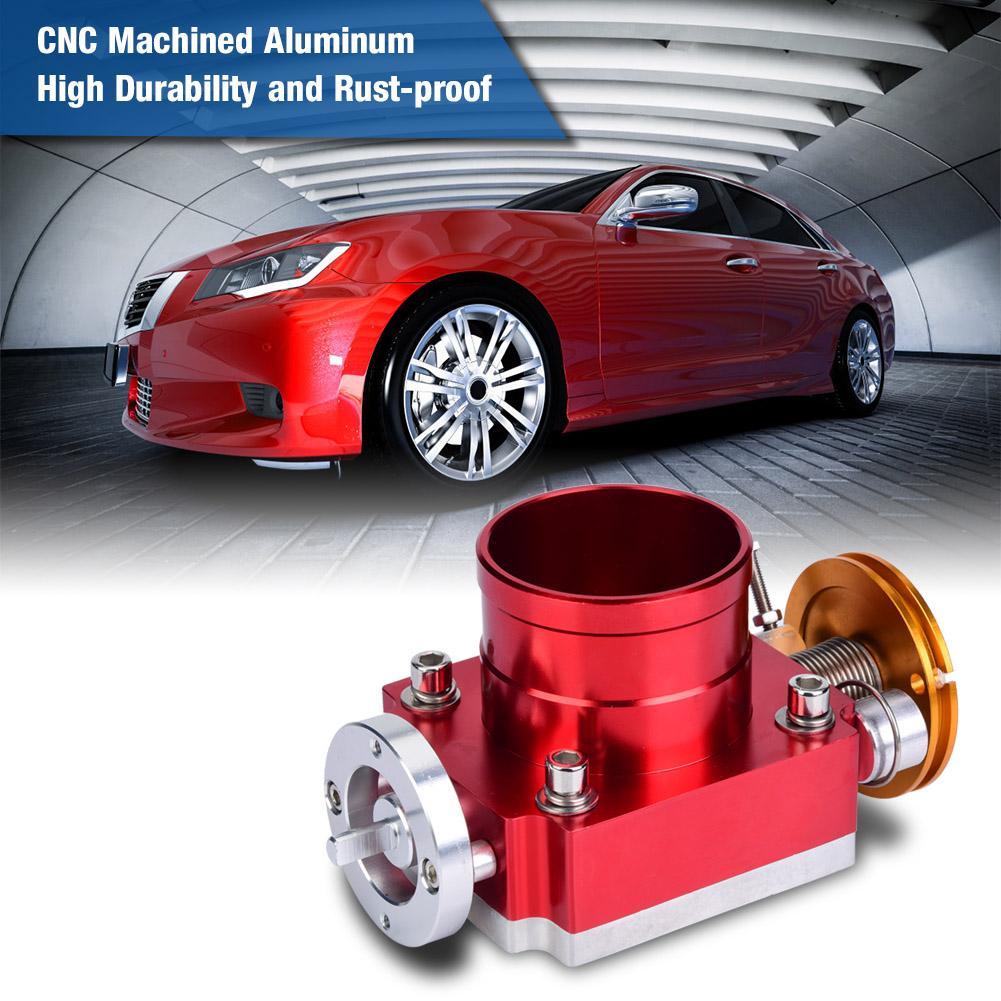 Throttle valve body 65mm CNC Aluminum Universal High Flow Intake Manifold Throttle Body for General mechanical