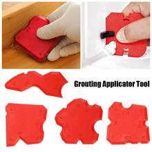 Красный Grouting силиконовый герметик профилирующий аппликатор инструмент для керамической плиточный герметик для удаления краев скребок набор ручных инструментов