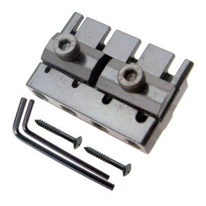 Image 5 - Black 4 String Bass Tailpiece Bridge System Saddle Headless Electric Bass Parts Accessory