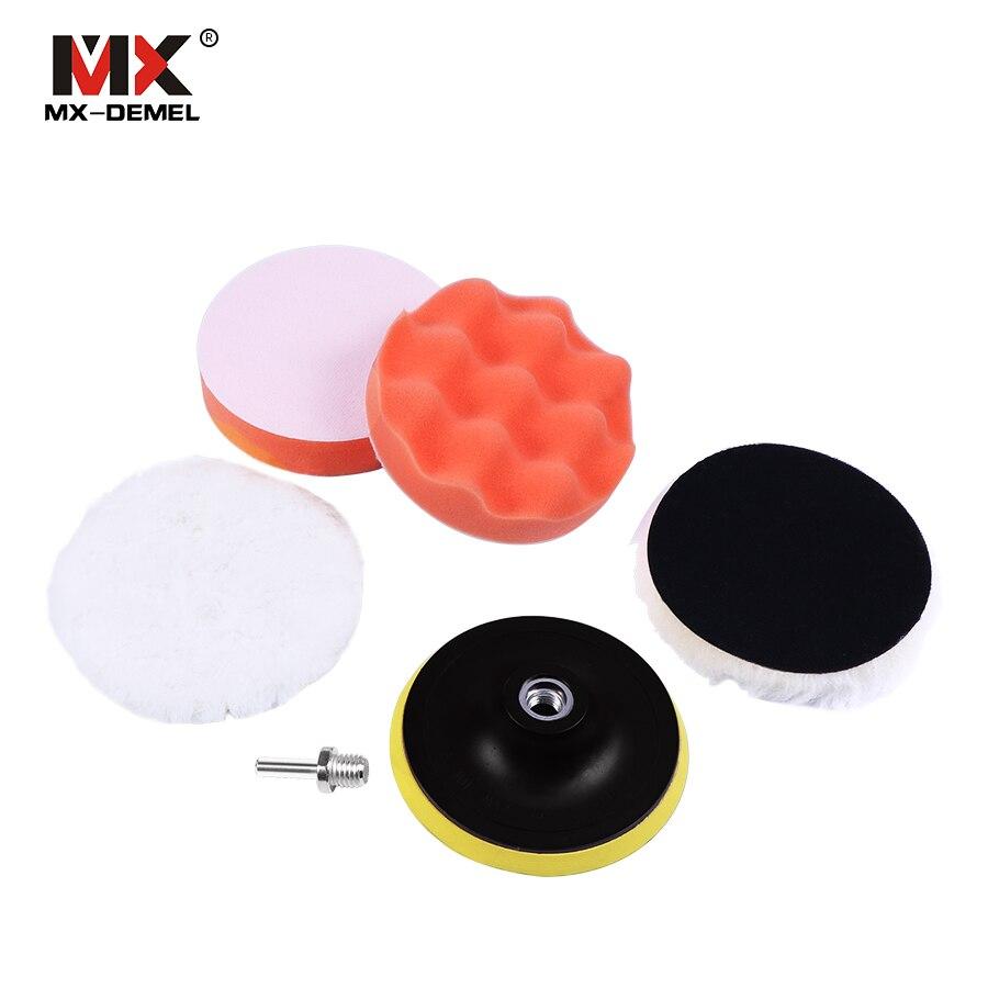 2Pcs Polishing Buffer Waxing Buffing Pads Car Polish Sponge Ball Wheel Polisher