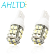 цена на high quality 2X T10 20SMD 1206 white Car Wedge LED Light 3020 W5W 194 168 Auto License Plate Clearance Lamp Reading Bulb 12v