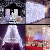 6x1/6x1.5/6x3m LED STRING Icicle Curtain Lights LED Christmas Fairy Holiday Lights Garlands For Party Garden Wedding Decorations