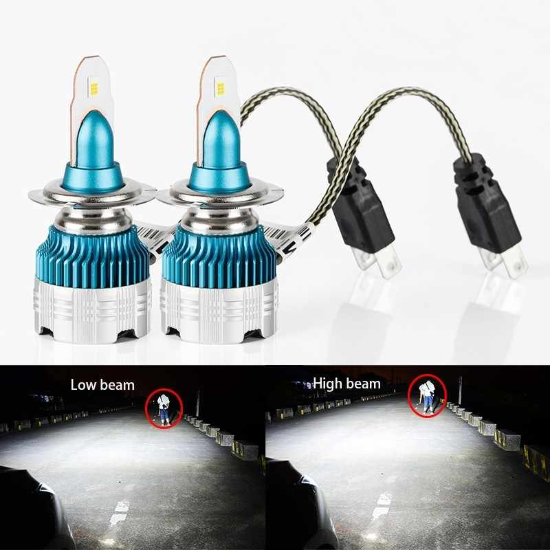 2X H4 H7 H11 H8 H9 COB Car LED Light Bulb HIi-Lo Beam 52W 6000LM 6000K  H1 H3 9005 9006 Auto LED Headlights DC 12V New Product
