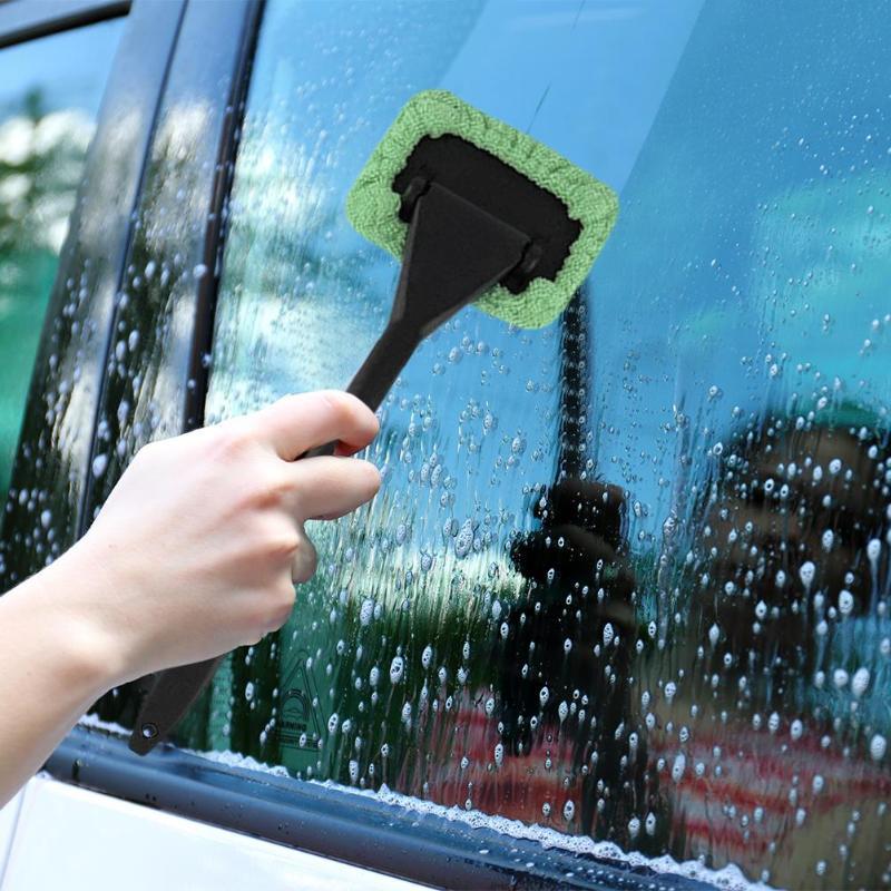 Микрофибра Очиститель автомобильных стекол щетка с длинной ручкой чистящие щетки для автомобиля моющаяся щетка лобовое стекло очиститель ...