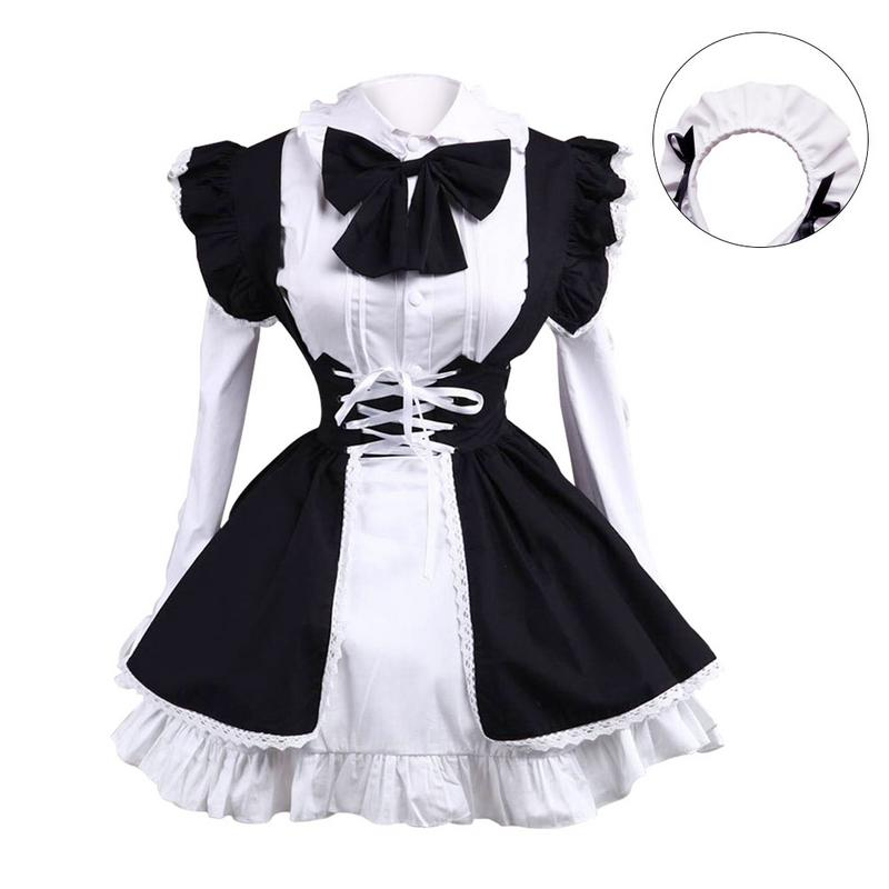 2019 Maid Costume For Women Men Anime Cosplay Black And White Maid Outfit Lolita Fancy Dress Sex Temptation Erotic Adult Shop