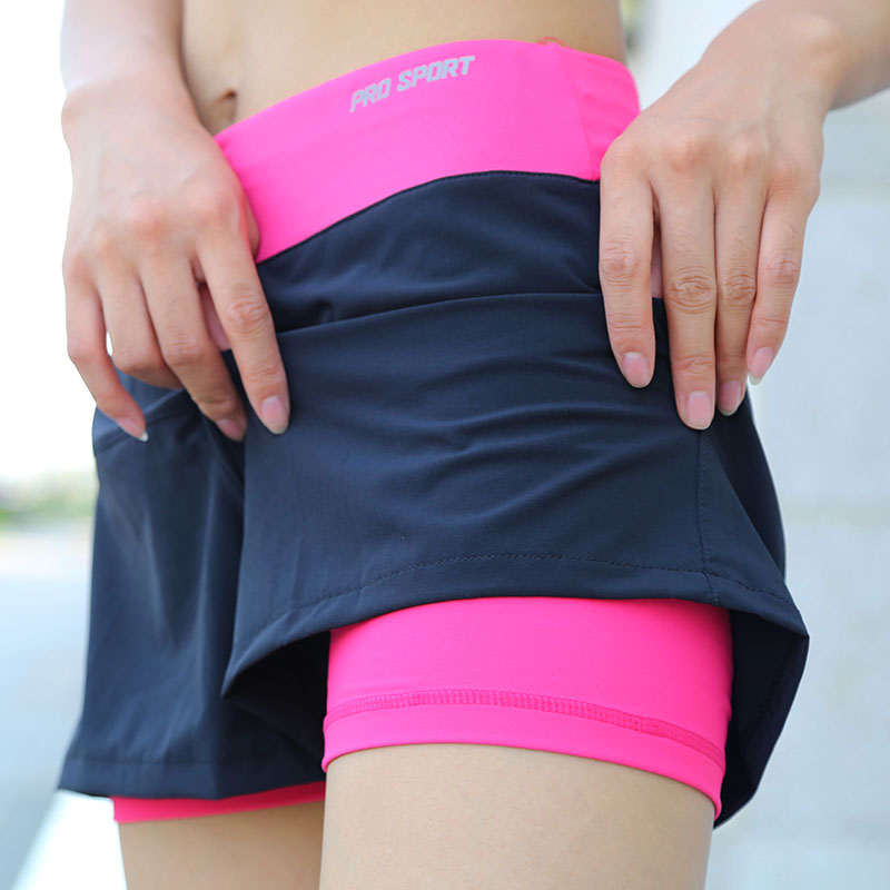 Women Quick Drying Yoga Double Layer Sport Short Outdoor Sports Fitness Gym Yoga Running Shorts