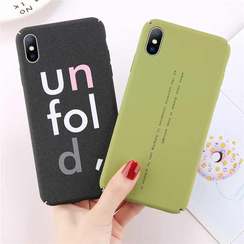 QINUO Fashion Hot Sandstone Case For iPhone 6 6s 7 8 X