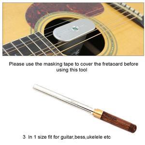 Image 4 - יהלומי גיטרה לדאוג כותרת הלבשה קובץ צר/בינוני/רחב 3 קצוות גיטרה תיקון & Luthier כלים
