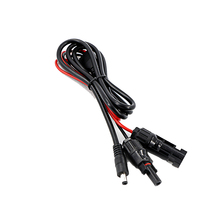 2 pcs/lot 1.5 Meters Black/Red Power Solar Extension Cable 16AWG with MC4 to DC Connector Used in Solar Panel System
