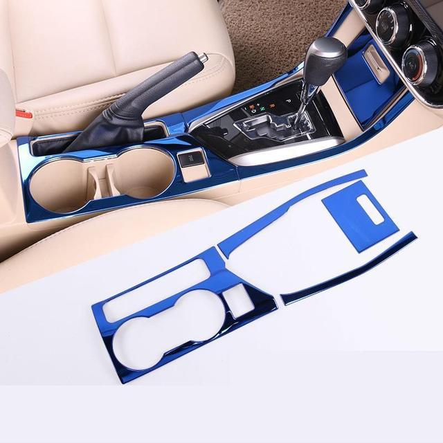 Decorative Cup Gear Interior High-Grade Accessories Mouldings Trim Car Styling Bright Sequins 14 15 16 17 FOR Toyota Corolla