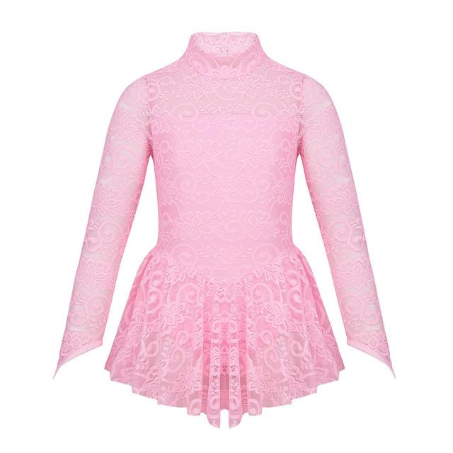 Girl's Long Sleeved Lace Ballet Bodysuit