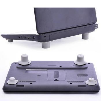 4 pçs / lote Notebook Acessório Laptop Almofada de Redução de Calor Pés de Arrefecimento Stand Holder Desk Set 1