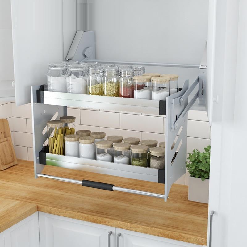 Organizador Gabinete Armario De Despensa Dish Rack Stainless Steel Hanging Cuisine Cocina Cozinha Kitchen Cabinet Basket in Racks Holders from Home Garden