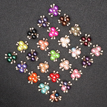 10pcs Rhinestone Buttons For Girl Hair Accessories Dress Crafts Jewelry Scrapbooking Decorative Baby