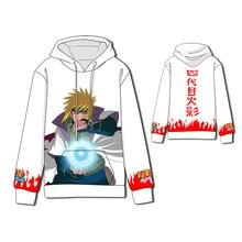 Hot  Anime Hokage Naruto Cosplay Hoodies Standard Hooded Winter Tops Unisex The fourth hokage funny Sweatshirts