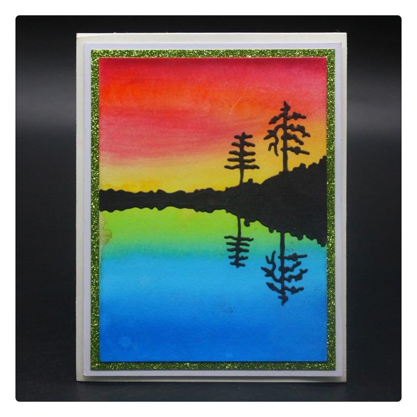 1758 Tree River Cuts Scrapbook Metal Cutting Dies For Scrapbooking Stencils DIY Album Cards Decoration Embossing Folder Die Cut in Cutting Dies from Home Garden