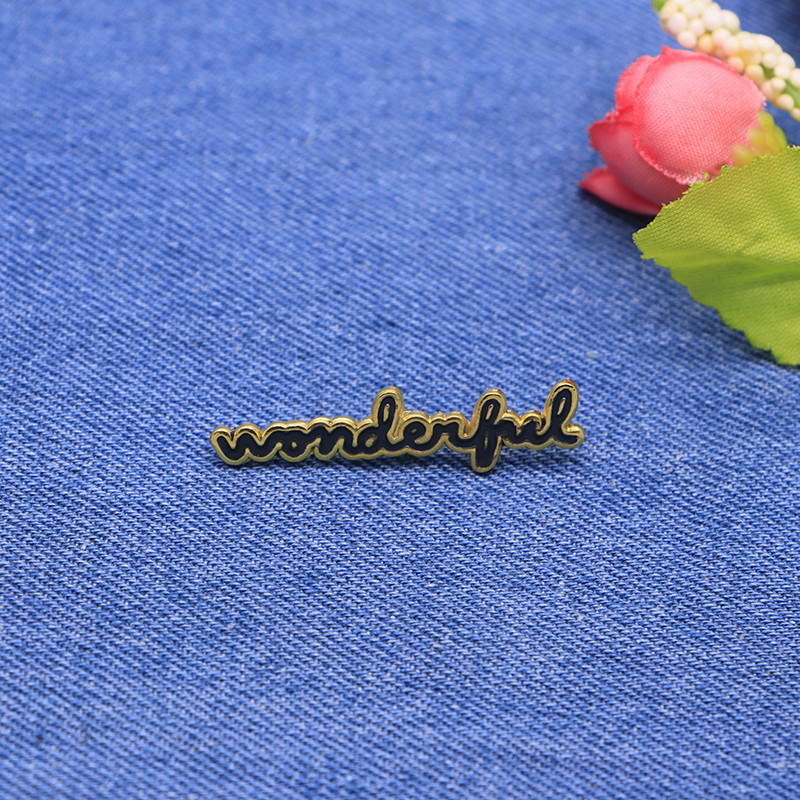 Apparel Sewing & Fabric Letter Brooches Wonderful Enamel Pin For Girls Boys Lapel Pin Hat/bag Pins Denim Jacket Shirt Women Brooch Badge Sc4238 Durable Service