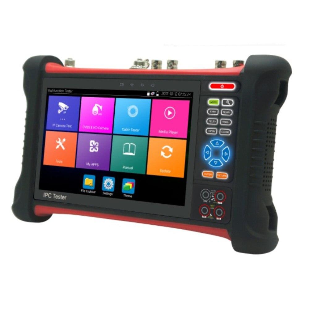 Professionnel Cctv 7 pouces rétine presse écran testeur moniteur X7-Movtadhs H.265 4 K 8Mp Tvi Cvi Ahd Sdi Cvbs Ip caméra testeur avec