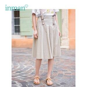 Image 2 - Inman verão cintura alta magro retro coreano moda estudante estilo tudo combinado a linha saia cinta feminina