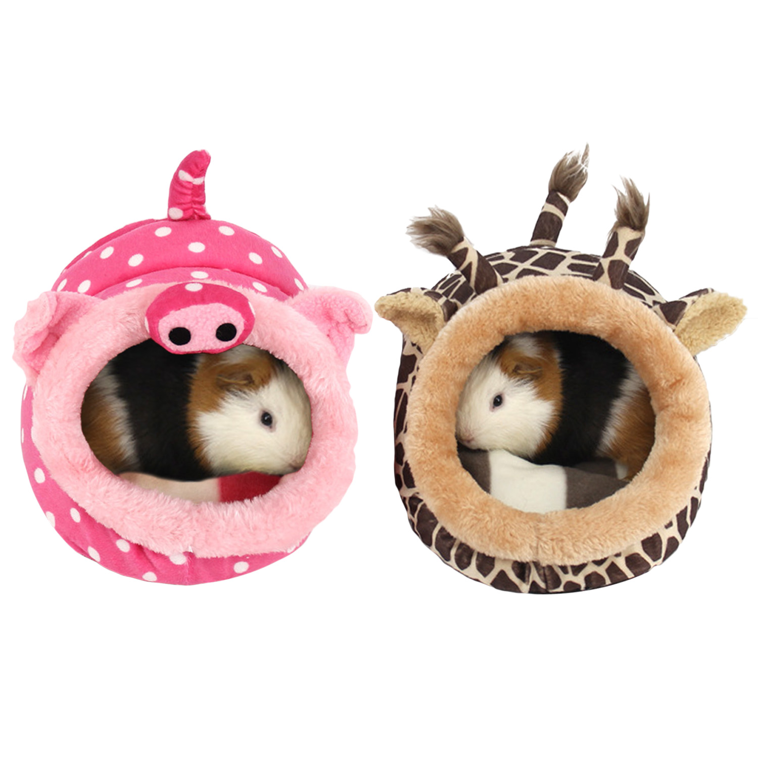 Behogar Cute Small Animal Pet Rats Hamster Squirrel Hedgehog Winter Warm Plush Cage House Nest Hamster Accessory Size L Bird Cages & Nests     - title=