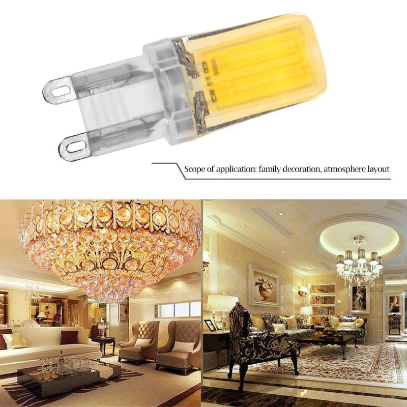 G4 G9 Dimmable Silicone COB LED Bulb Chandelier Crystal Replace Lamp Lights For Home Decoration