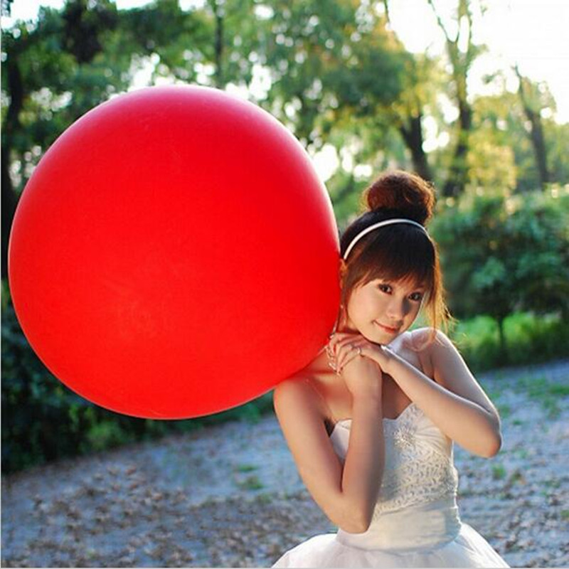 <font><b>10</b></font> PCS/lot Colorful Super Large Balloons Helium Inflable Latex Balloons <font><b>Birthday</b></font> Wedding Party <font><b>Decor</b></font> Round Big Giant Balloon image