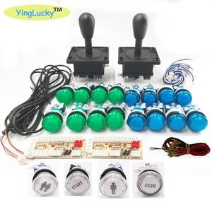 Image 2 - 2 Players Arcade joysticks DIY Kit Zero Delay USB Encoder American Style Joystick 28mm Push Button PC Mame Raspberry pi 1 2 3