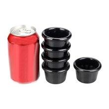 American Tableware Cafe Lounge Bar Special Black Saucer Melamine Sauce Cup