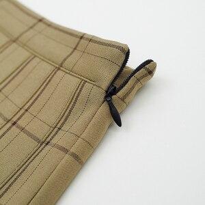 Женская плиссированная мини-юбка, летняя повседневная клетчатая мини-юбка с высокой талией