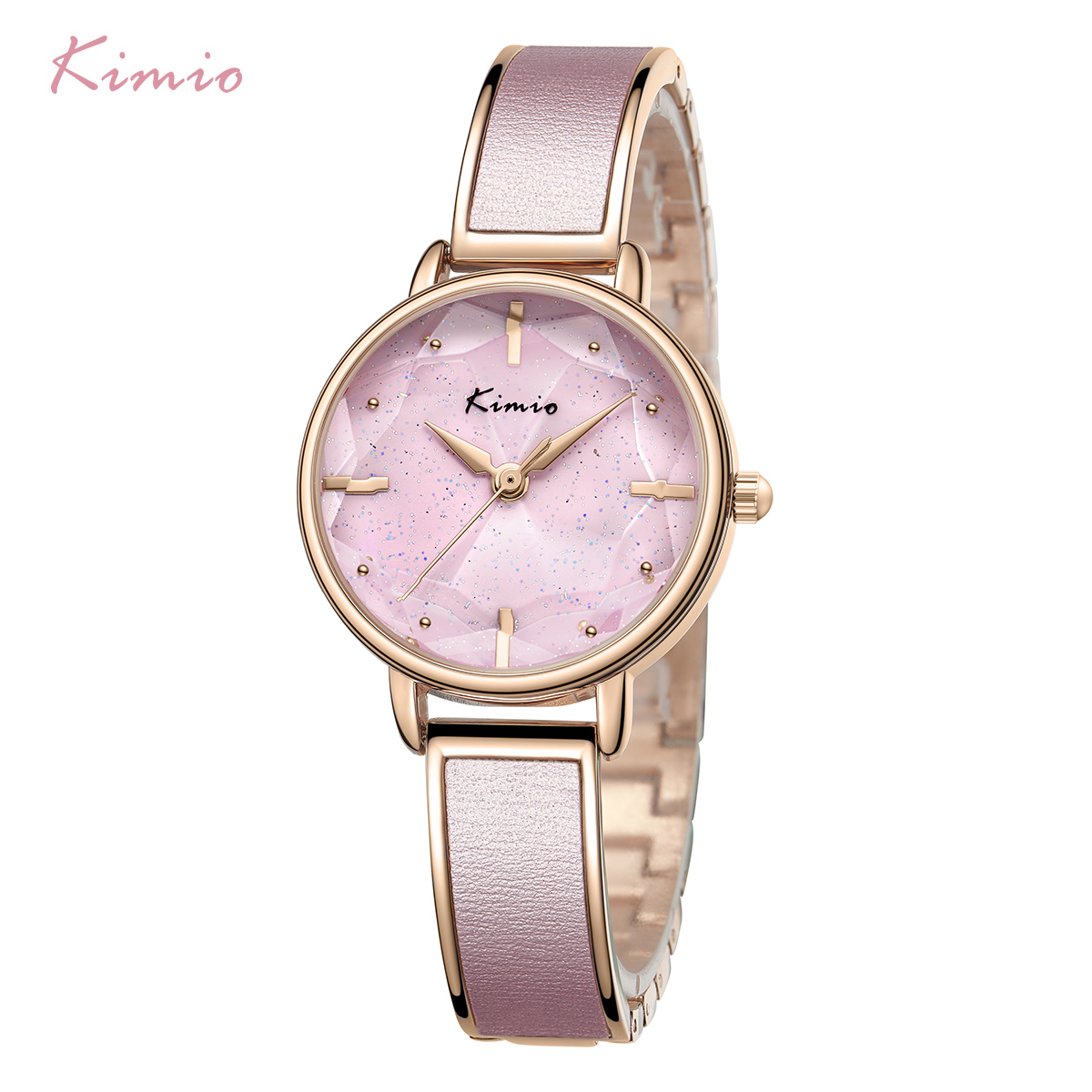 Kimio 브랜드 팔찌 시계 여성 고급 숙녀 쿼츠 시계 여성 캐주얼 방수 시계 시계 빅 다이얼 2019 봄 새로운-에서여성용 시계부터 시계 의  그룹 2