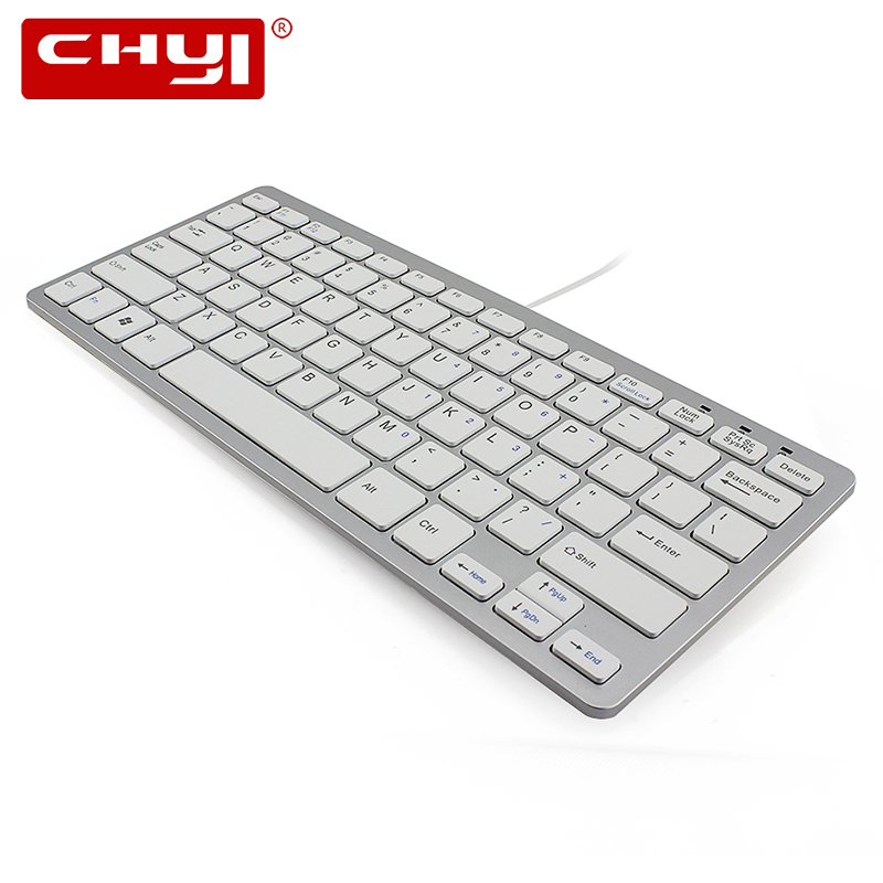 chyi mini 78 keys ultra thin usb wired keyboard portable slim ergonomic computer keypad for pc. Black Bedroom Furniture Sets. Home Design Ideas