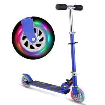 Nouveau Trottinette Pliable Réglable Hauteur 2 Roues Scooter avec lumière LED Vers le Haut Roues enfants Trottinette