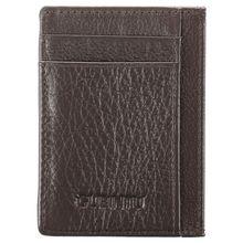 Ultra-thin Leather Wallet Mens Mini Credit Card ID Holder Money Clip Magic Purse