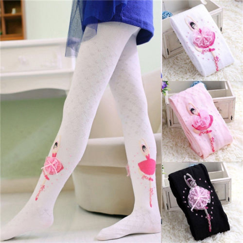 Cute Baby Kids Girl Cotton Flower Tights Socks Stockings Pants Hosiery Pantyhose