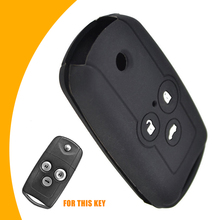 For Honda Accord Civic CRV CRZ ACURA MDX TL 1pc 3 Button Dedicated Car Key Protector Durable Silicone Case Cover Mayitr