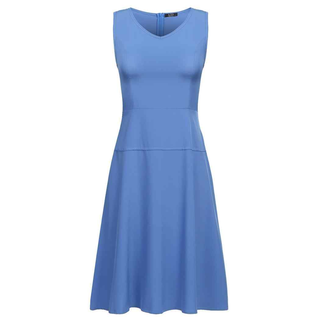 AL'OF Женская мода Элегантное коктейльное платье v-образный вырез без рукавов сплошной вечерние Вечеринка Короткие Vestidos сексуальные женские Выпускные платья