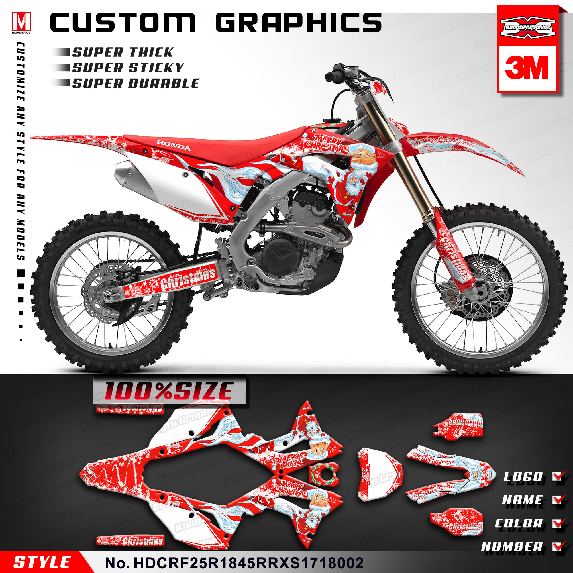 Us 149 89 Kungfu Graphics Motocross Stickers Decals Vinyl Kit For Honda Crf250r Crf 250r Crf450r Supermoto Crf 450 R Crf450rx 2017 2018 In Decals