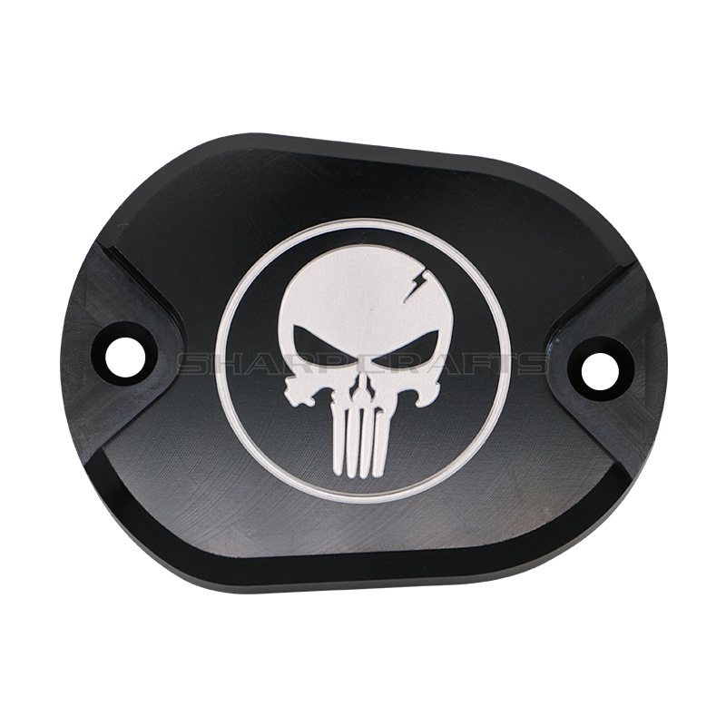 Image 3 - Motorcycle Skull Derby Timer Clutch Timing Covers Master Cylinder Chain Inspection Cover For Harley Sportster Iron XL883 XL1200-in Covers & Ornamental Mouldings from Automobiles & Motorcycles
