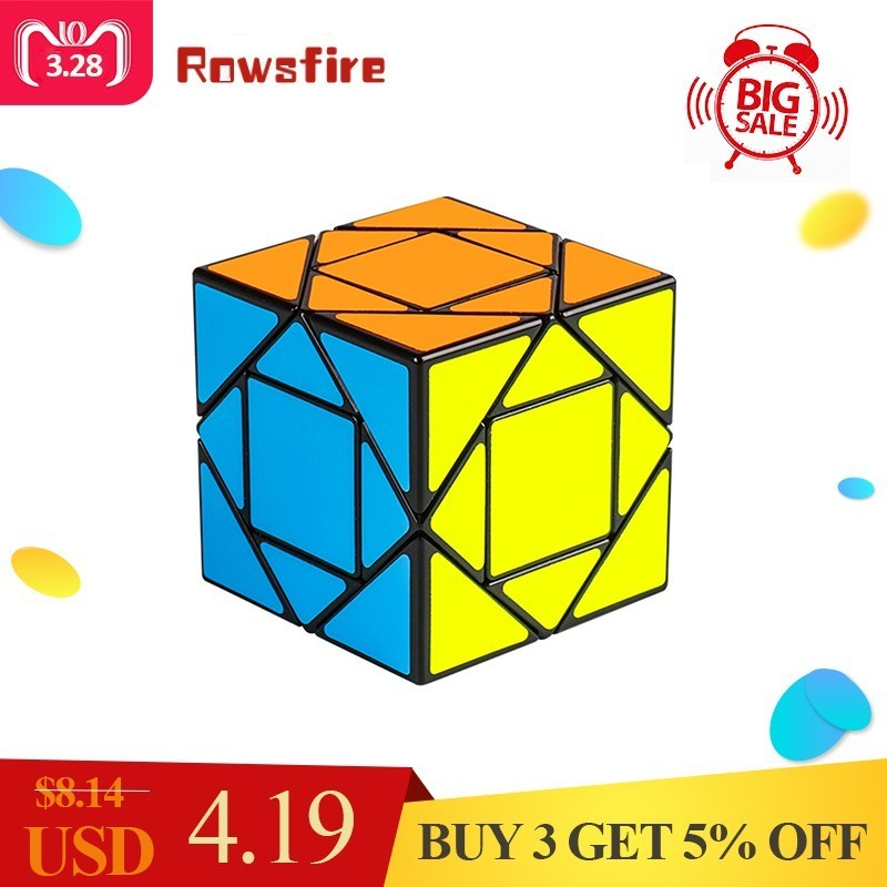 Rowsfire MF8847 Mofang Jiaoshi Pandora Magic Cube Educational Toys For Children Brain Trainning - Black/Yellow/Orange