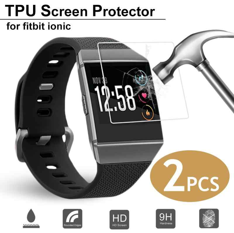 New 2PCS Ultra Thin Smart Bracelet Screen Protector HD Anti-scratch TPU Screen Protector For Fitbit Ionic Watch High Quality