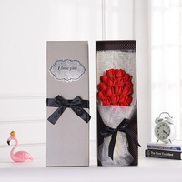 18PCS Beautiful Soap Flowers Gift Box Bouquet Realistic Fake Bouquet Preserved Roses For Valentine'S Day Mother'S Day