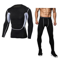 Brand Camouflage Compression Shirt Clothing Long Sleeve T Shirt + Leggings Fitness Tops Quick Dry Sportswear Suit S 4XL