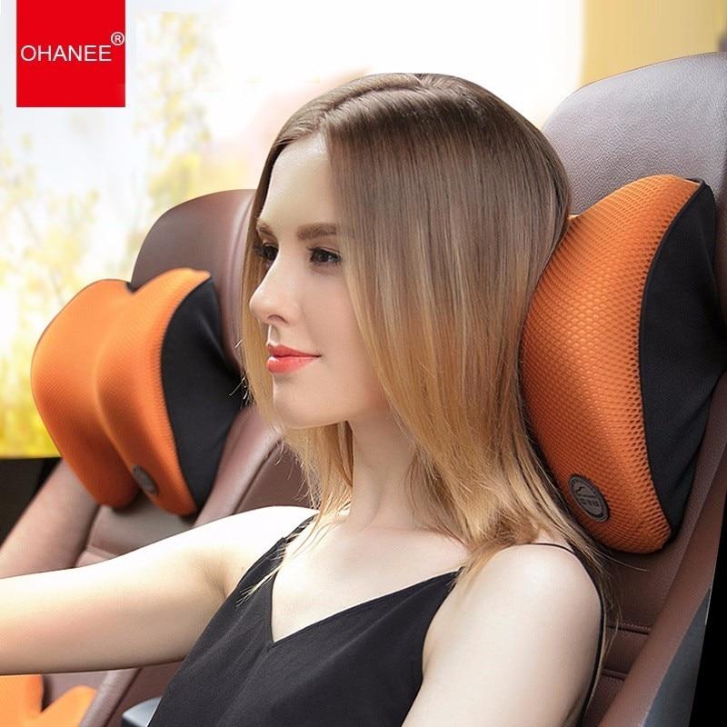 Car Seat Head Supports Memory Cotton Head Pillow Car Seat Head Neck Rest Massage Memory Foam Cushion Support Headrest Women Man