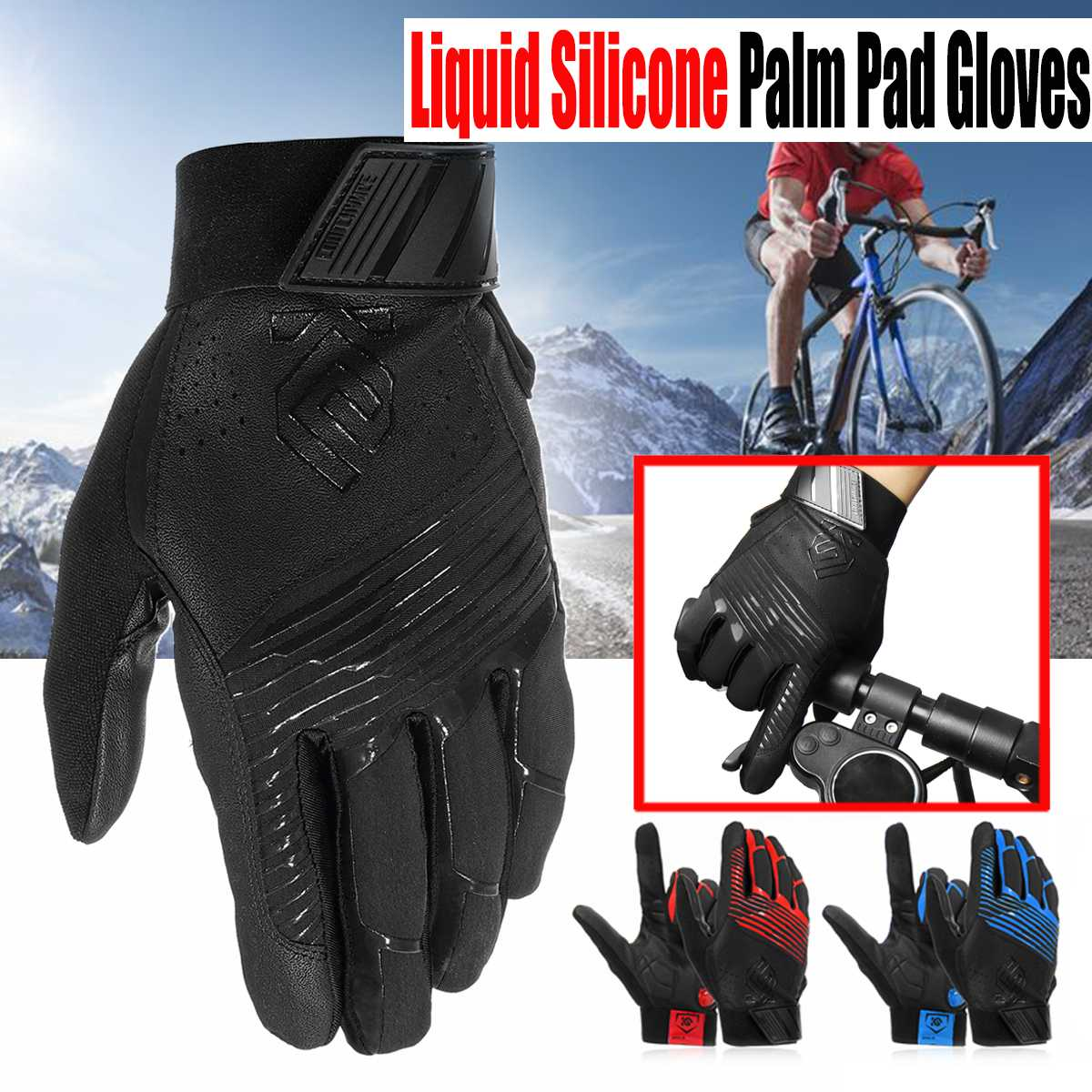 Windproof Cycling Gloves full Finger Thermal Warm Bike Gloves GEL MTB Bicycle Gloves Motorcycle Winter Men Women Clothing