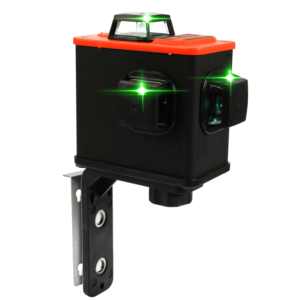 DIY 3D Laser Level Meter Projector Scanister Kit with 12 Green Lines Horizontal and Vertical Laser