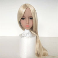 tpe Oral Sex Doll Head for 140cm to 176cm Full Size Real Doll with Wig and Eyes M16 Screw Thread
