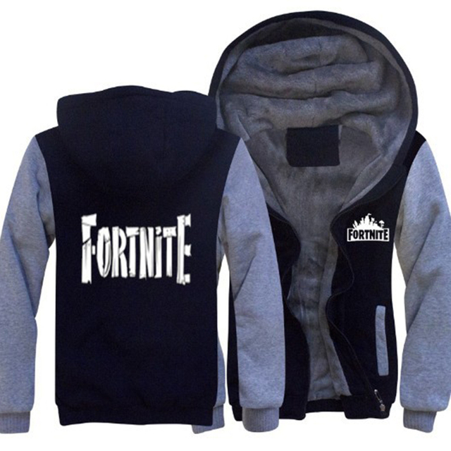 Game Fortnite Battle Royal Gamer Hip Hop Men thick Fleece warm Hoodie sudadera Streetwear printing Rock Sweatshirt Pullover